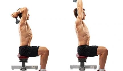 Musculation des triceps à la maison